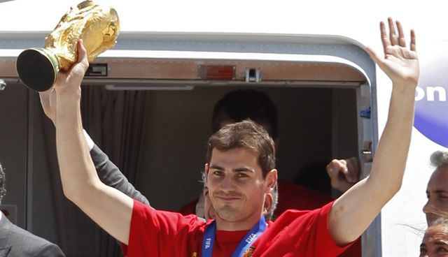 El seleccionado campeón del mundo regresó a España