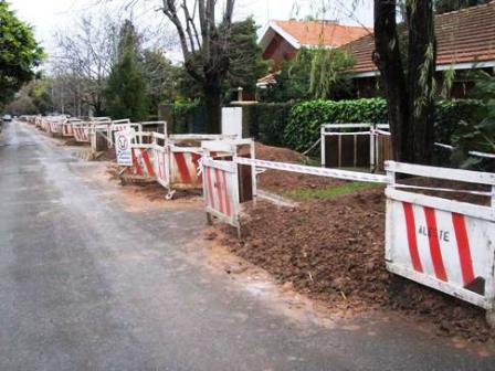 Se expande la red cloacal en San Isidro