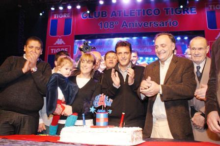 El club Tigre festejó su 108 aniversario