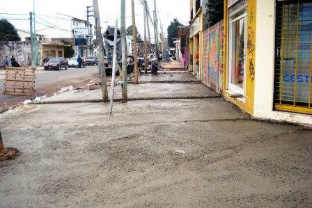 Continúan las remodelaciones del Centro Comercial de Benavídez