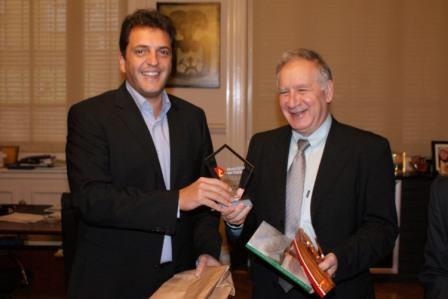 Massa recibió en Tigre al embajador del Estado de Israel