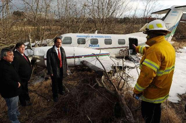 Susto para el Ministro de Justicia bonaerense y la Procuradora al despegar su avión en Mercedes