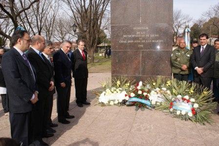 Tigre homenajeó en Don Torcuato al Padre de la Patria