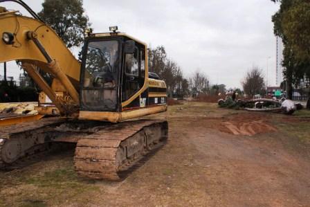 Empezaron las obras en la segunda etapa de la entrada a Tigre