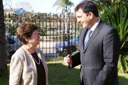 Sergio Massa se reunió en Tigre con la embajadora de EEUU