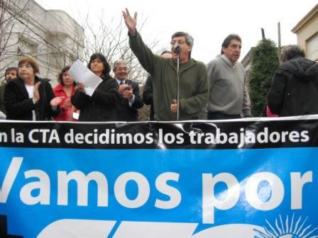 Víctor de Gennaro presentó candidatos de la CTA en Vicente López
