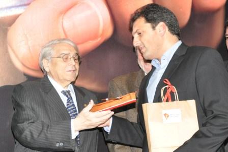 El Intendente Sergio Massa y el Presidente de la Unión Industrial Argentina, Héctor Augusto Méndez