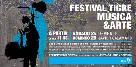 Se viene el FESTIVAL TIGRE, MÚSICA Y ARTE 2010