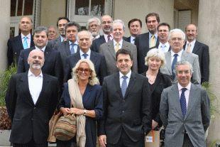Massa junto a embajadores de la Unión Europea