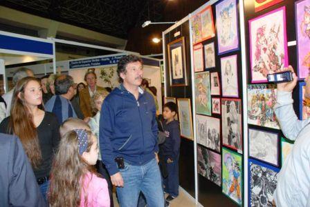 El intendente de San Isidro, Dr. Gustavo Posse, recorrió ayer por la tarde Expocultura 2010