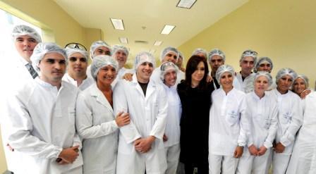 Cristina Fernández inauguró una planta de producción de vacunas antigripales en Escobar