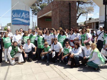 El hospital de Pacheco realizo una caminata por el día mundial de la diabetes