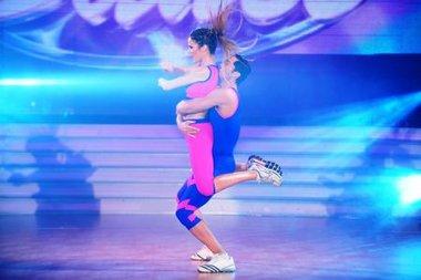 Paula Cháves deslumbró con el aero dance en Bailando por un sueño