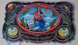 Muestra de Fileteo Porteño en el Deliberante de San Martín