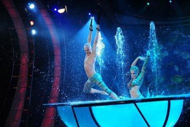 Flavio Mendoza recibi� una ovaci�n por su performance en el aqua dance