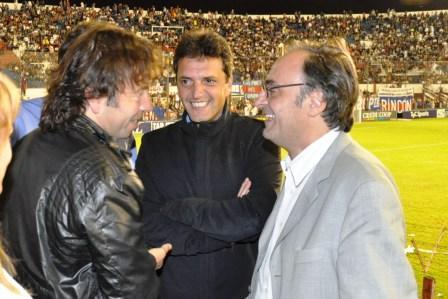 En Tigre-Argentinos, compartieron el partido desde la platea Sergio Massa y Rodrigo Molinos