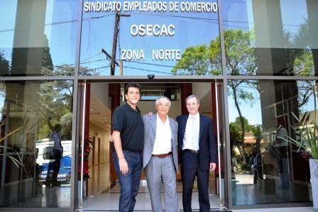 El Intendente Sergio Massa recorrió las instalaciones junto a los representantes del sector, el Secretario General de la Federación de Empleados de Comercio, Armando Cavalieri, y el titular del Centro de Empleados de Comercio Zona Norte, Ricardo Raimondo