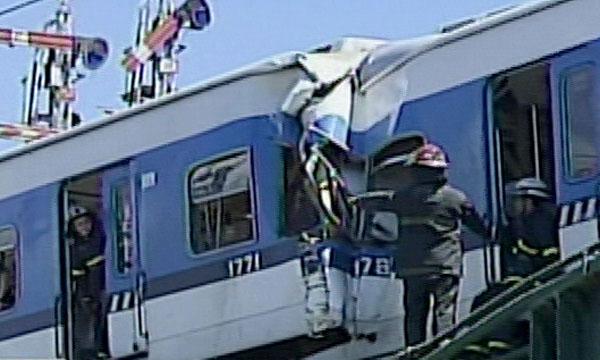 chocaron esta mañana dos trenes en el barrio porteño de Palermo.