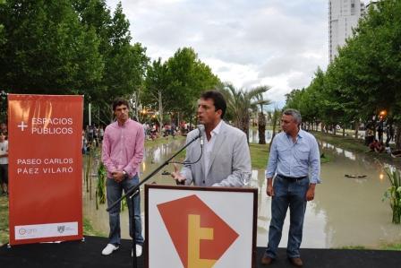 """Massa inauguró el Paseo """"Páez Vilaró"""""""
