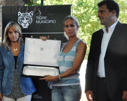 Gisela Dulko fue declarada ciudadana ilustre de Tigre