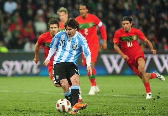 La luminosidad que aporta Messi le permitió a la argentina ganarle sobre la hora a Portugal