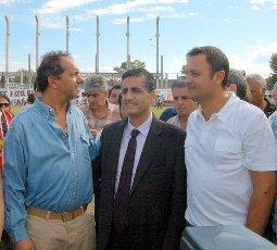 Daniel Ivoskus recorrió las obras del polideportivo del club Chacarita