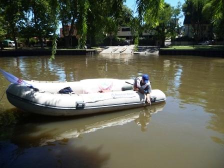 EL OPDS monitorea las aguas del Delta inferior de la provincia