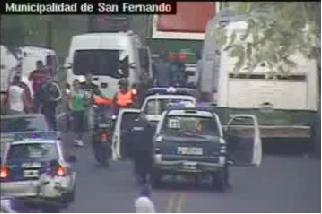 Las cámaras de San Fernando captaron los disturbios protagonizados por hinchas de River