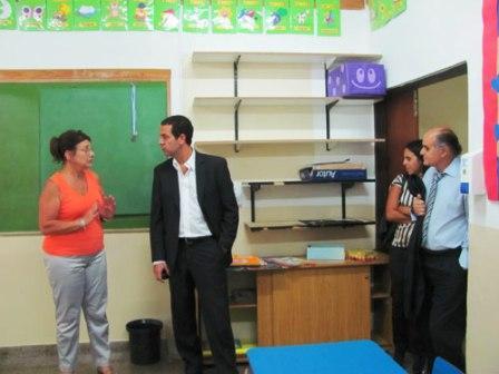 Rial visitó un colegio de Olivos y defendió el valor de la educación