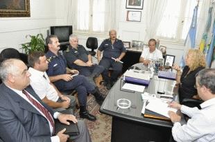 Campana: Intendente se reunió con Fuerzas Policiales y Foro Local