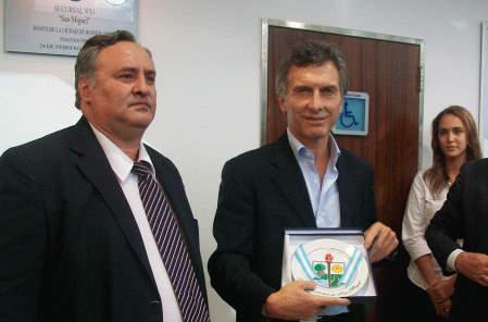 Macri y De la Torre inauguraron nueva sucursal del Banco Ciudad en San Miguel