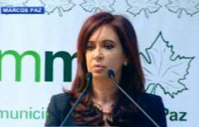 Cristina Fernández inaugura el año lectivo desde Marcos Paz
