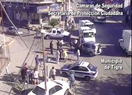 Tigre y Malvinas Argentinas: Las camaras filman un choque y juntos asisten a los heridos