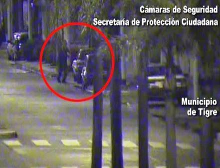 Tigre: las cámaras atrapan ladrón de autos