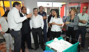 Cariglino visitó la nueva ampliación del Hospital Carrillo
