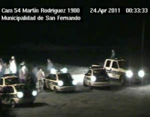 Las cámaras captan la detención de un violador en San Fernando.