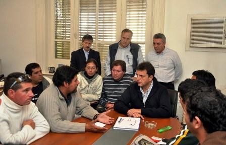 Massa recibió a los delegados en conflicto con Frigorífico Rioplatense