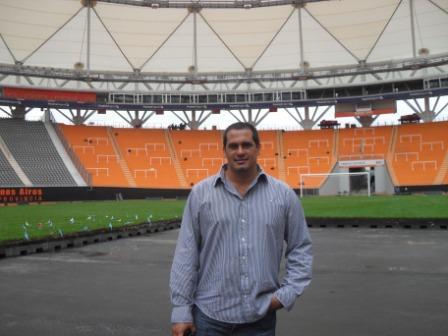 El Dirigente Sanisidrense Leandro Martín al frente del estadio único