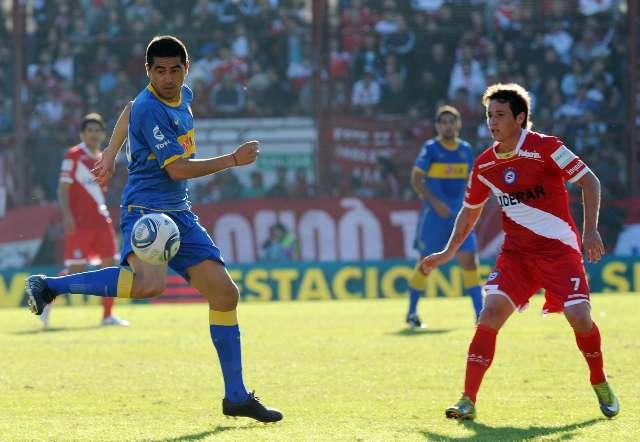 Juan Román Riquelme autor de uno de los goles