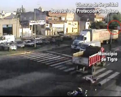 camionero infractor filmado casi mata motociclista