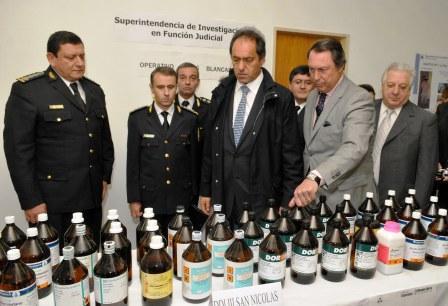 Scioli  destacó el accionar policial para detener a narcotraficante colombiano