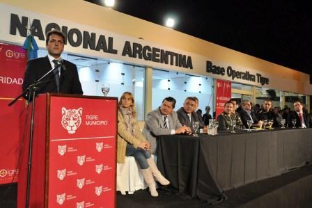 Massa inauguró la Base Operativa de Gendarmería Nacional