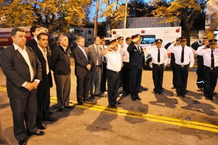 La conmemoración fue aprovechada además para la inauguración del nuevo piso de hormigón armado del Cuartel CentraL
