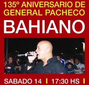Bahiano cantará este sábado en General Pacheco para celebrar su 135º aniversario