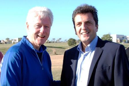 Sergio se reunió con Bill Clinton en Nordelta
