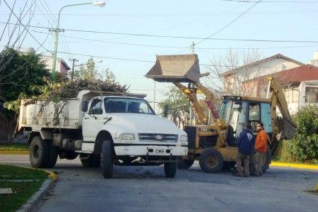 Trabajos de mejoramiento en los barrios Los Tábanos y San José