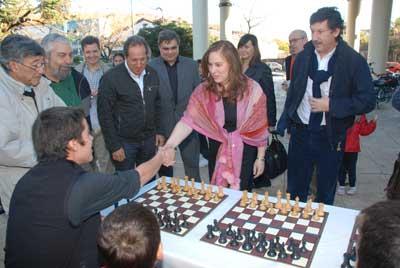 Judit Polgar, la mejor ajedrecista de la historia, visitó San Isidro