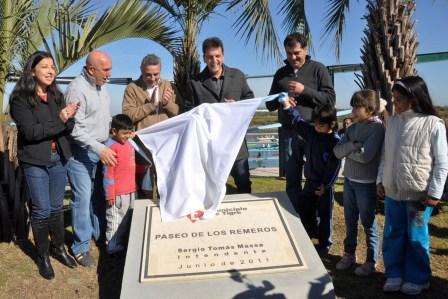 Tigre inauguró el nuevo Paseo de los Remeros - carrera de karting con famosos