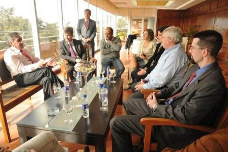 Visita internacional en Malvinas Argentinas