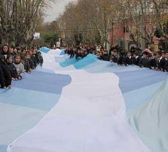 Con una enorme bandera, alumnos recorrerán las calles de Beccar